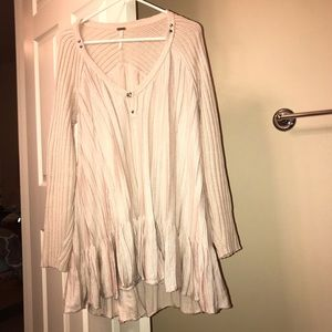 Free people long v neck sweater
